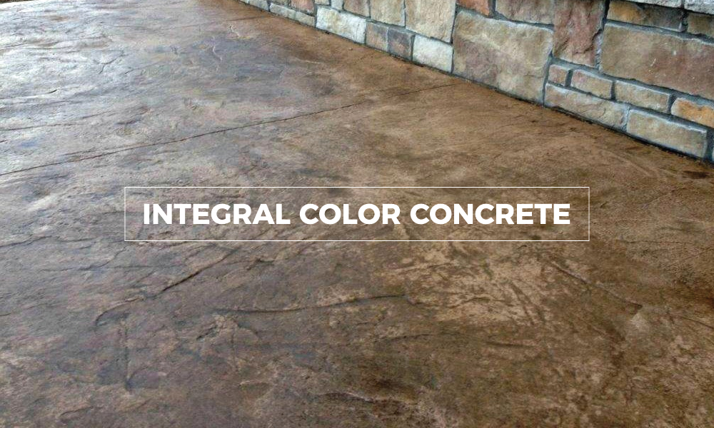 Integral Color Concrete Walls : Decorative concrete mmc materials inc
